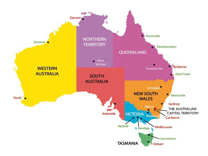 Map Of Australia For Students.About Australia For Students Things Guide To Know About